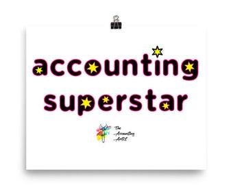 Accounting Superstar - Accounting Wall Art, Accounting Decor, Accounting Print, Accountant Wall Art, Accountant Poster, Accountant Decor