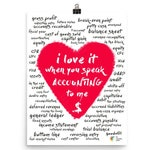 Accountant Art I Love It When You Speak Accounting To Me - Accountant Office Decor