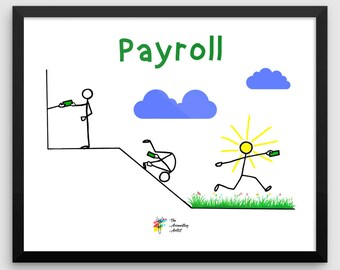 Funny Payroll Poster, Payroll Gift, Payroll Funny Art Print, Accountant Gift, Accountant Poster, Accounting Humor, Payroll Specialist Gift