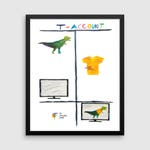 Accounting Art, Accounting Gifts, T-Rex T-Account, Accountant Gifts, Accountant Office Decor, Accounting Decor, Accounting Wall Art, Humor