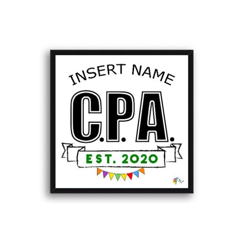 CPA Congratulations Gift Art Print Frame Optional Wood Frame - Black