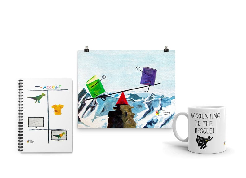 Accountant Gift Bundle  Art Print Mug and Spiral Notebook  image 0