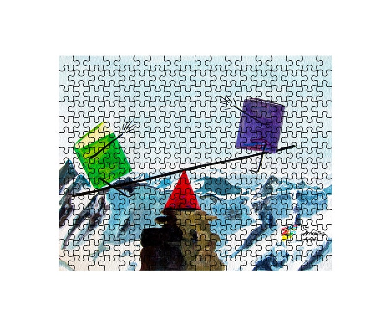 Puzzle For Accountant Office Balance the Books 10x14 inch