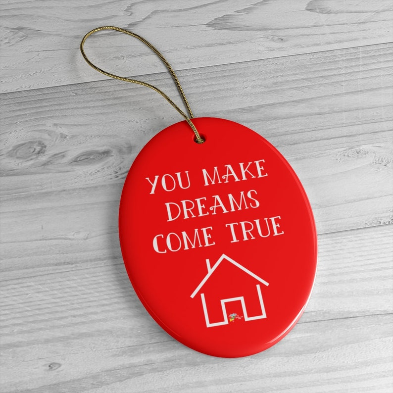 Ornament for Realtor Gift Oval