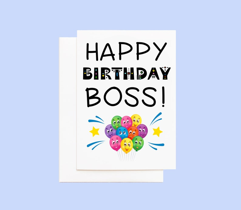 Boss Birthday Card with Envelope image 0