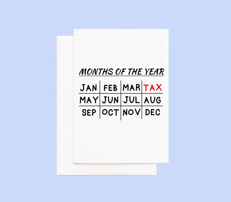 Tax Humor Greeting Card image 0