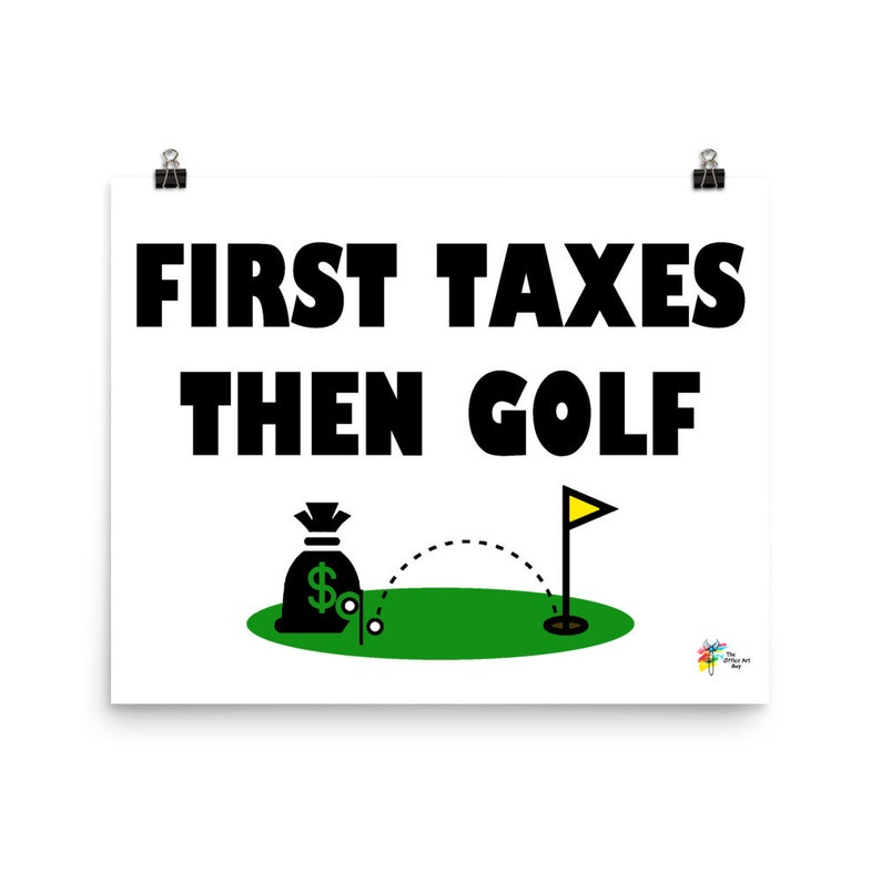 Tax Accountant Art Print Golf image 0