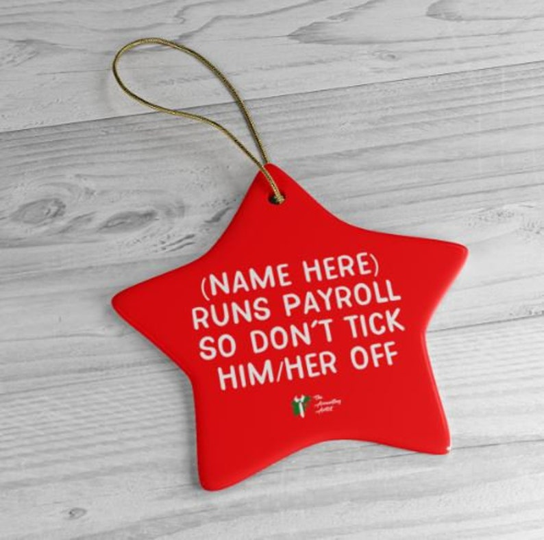 Funny Payroll Ornament for Office image 0