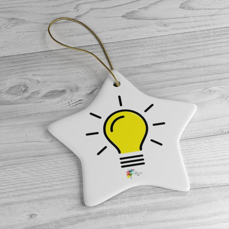 Light Bulb Ornament Star