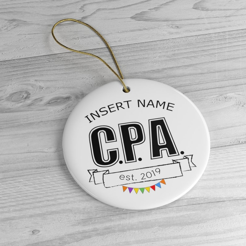 CPA Ornament Congratulations Gift Circle