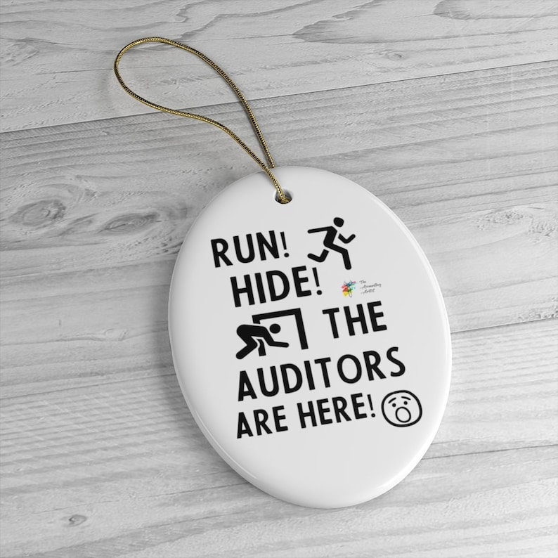 Funny Auditor Ornament Gift Oval