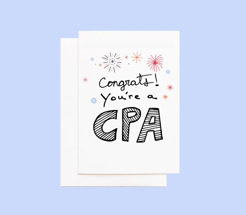 CPA Congratulations Card with Envelope image 0