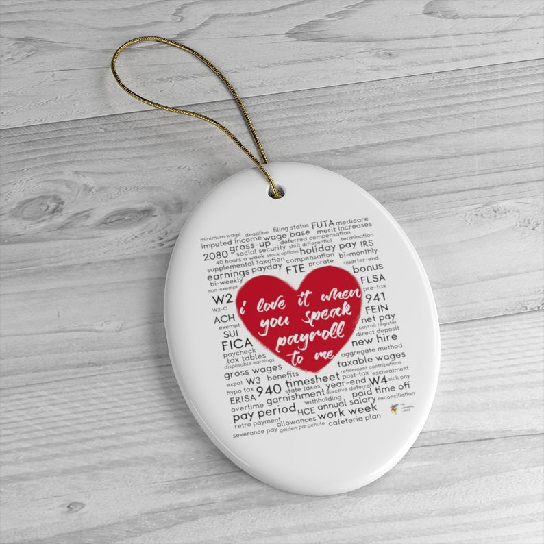 Funny Payroll Ornament Oval