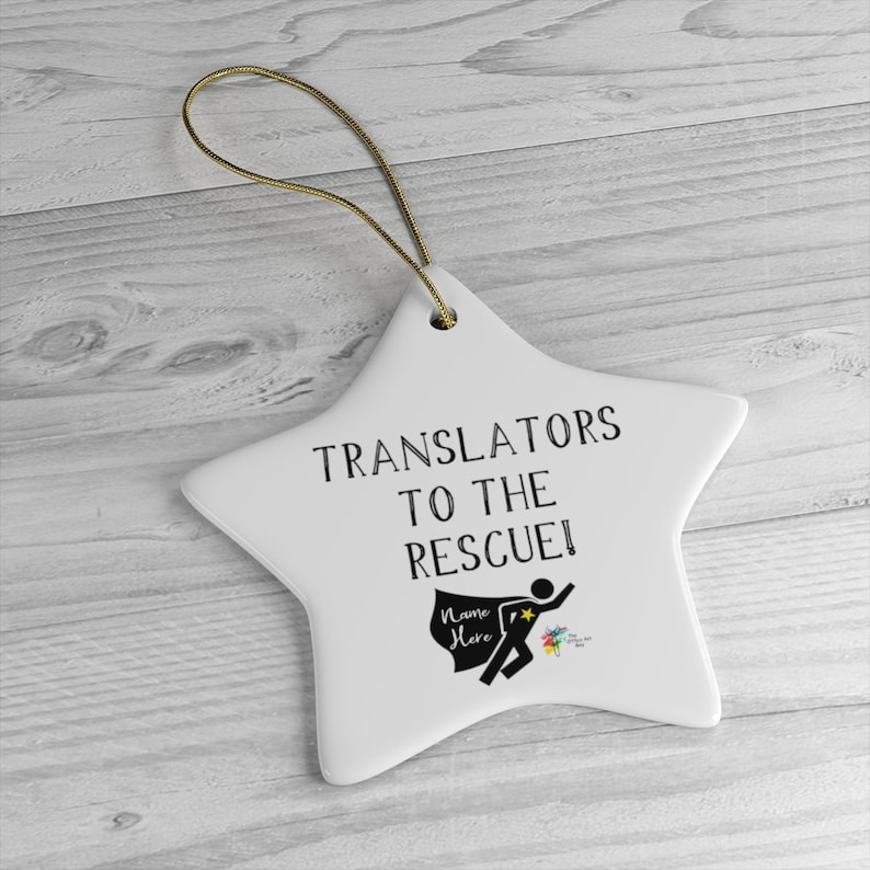 Custom Ornament Gift for Translators Star