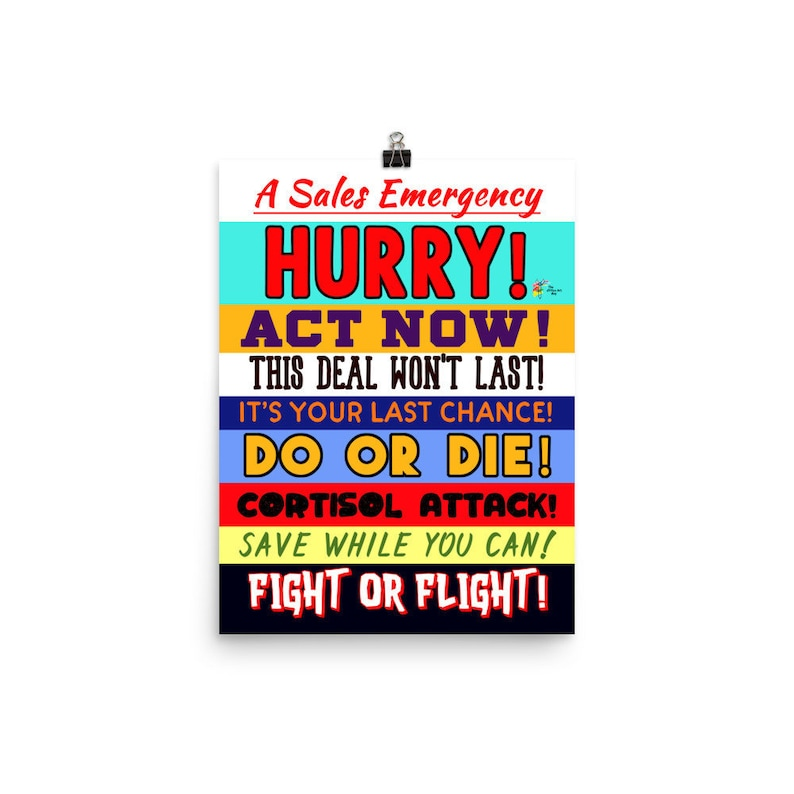 Funny Sales Office Art Print  A Sales Emergency image 0