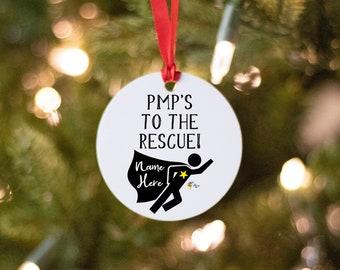 PMP Superhero Ornament Gift Project Management Professionals
