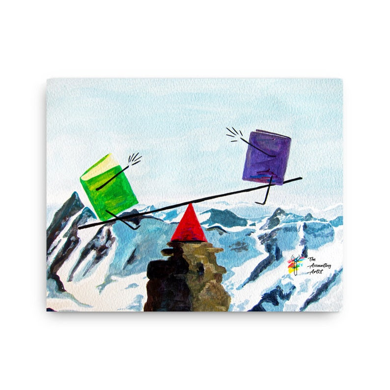 Accountant Wall Art  Original Canvas Painting for Accountant image 0