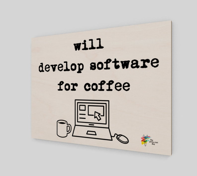 Will Develop Software for Coffee Art Print on Birch Wood Panel image 0