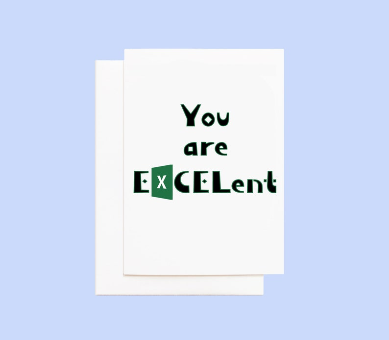 Appreciation Card Excel Spreadsheet Humor image 0