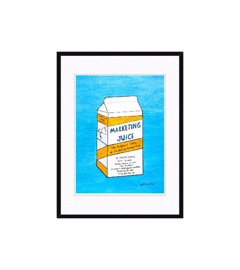 Marketing Art  Original Framed Painting for Marketing Office Black