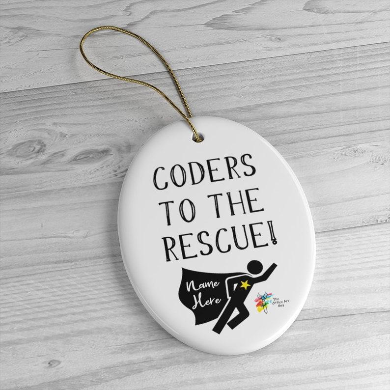 Custom Ornament Gift for Coder Oval