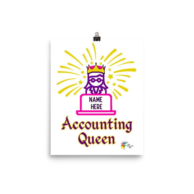 Accounting Queen Custom Art Print image 0