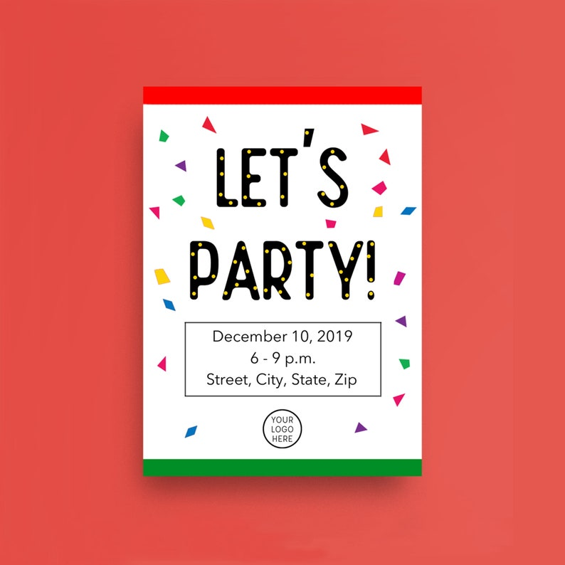 Corporate Party Card  Customize It image 0