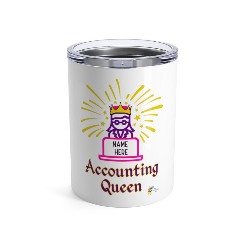 Personalized Accountant Tumbler  Accounting Queen 10oz