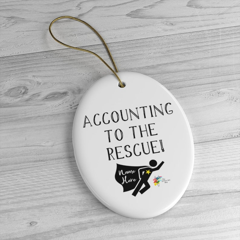Ornament for Accountant Custom Gift Oval