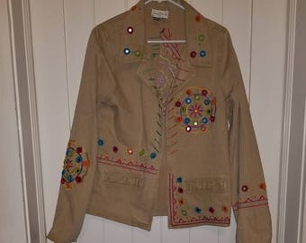 Embroidered Jacket with Mirror art