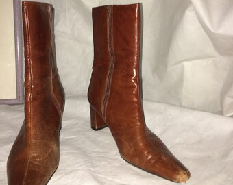 Caramel Leather Boots