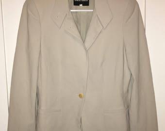 Off-White Creme Colored Armani Blazer