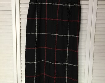 Scottish Plaid Long Skirt