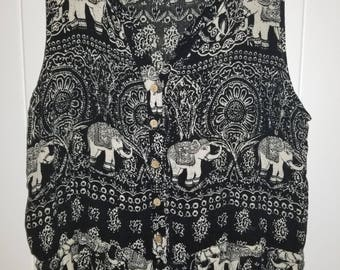 Indian Elephant Print Jumpsuit