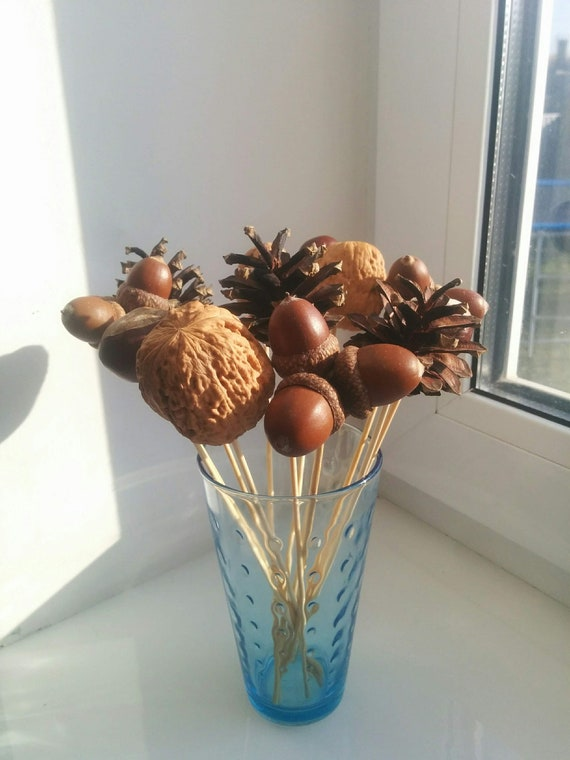 Vase Filler Fall Tall Christmas Ideas For Fake Flowers Acorn Etsy