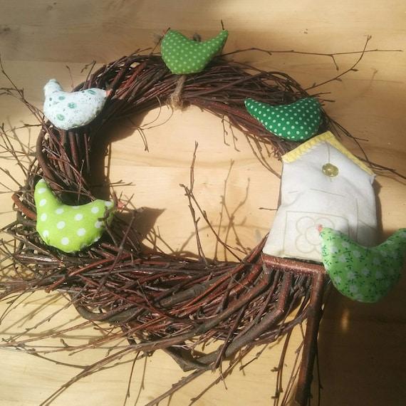 Wreath With Birds Of Branches Diy Wreath Rustic Decor Wedding Etsy