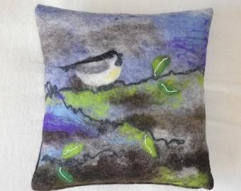 Pillows, pillow cover felted, sofa pillow, felt, Nanofilzen