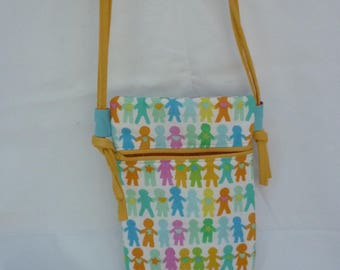 mini bag with adjustable shoulder strap for convenient and colorful child
