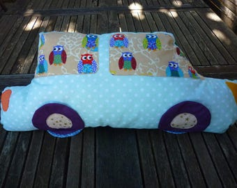 OWL pillow car dark green and light for room decoration child