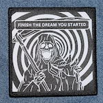 "Finish The Dream You Started — 3.5"" iron-on woven patch"