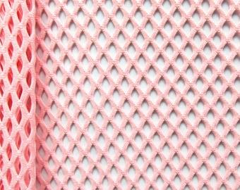 Nude Fuzzy Glitz Cabaret Net Mesh Fabric by the yard
