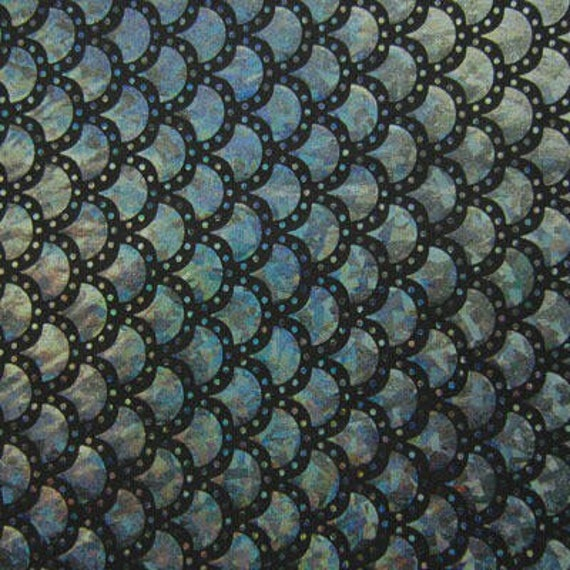 8*12\u201c Mermaid Scale Pattern Fabric Fish Scales Spandex Fabric Holographic Fish Scale Stretch Fabric Multi Colors to choose 1pcs 102701