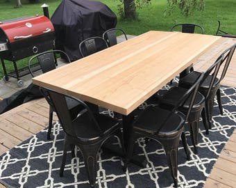 Hand Made Metal / Wood Dining Room Table