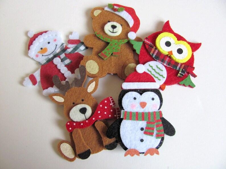 Handmade British velours Flocon de Neige Décoration de Noël