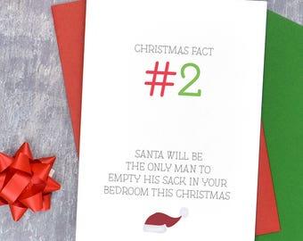 Dirty christmas card etsy dirty christmas card for female friend offensive christmas card rude christmas card santa empty sack m4hsunfo