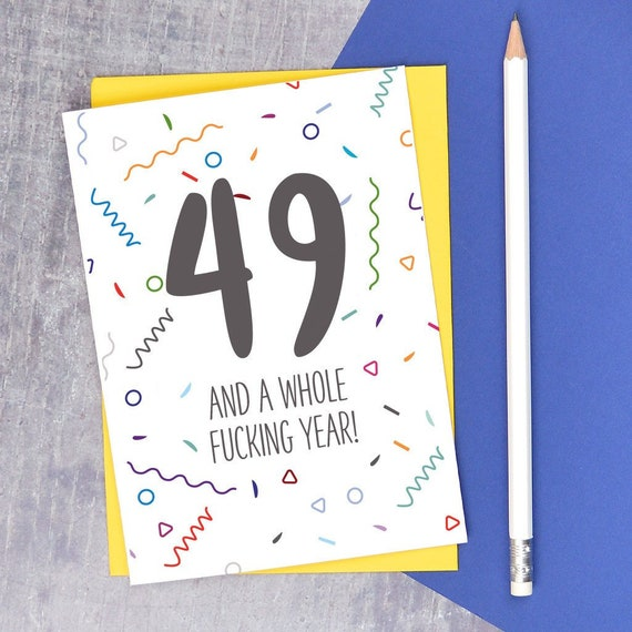 50th Birthday Card Adult Humour For Funny