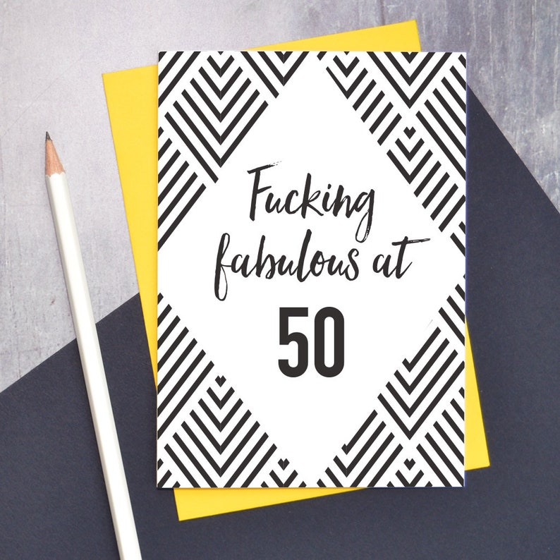 Fucking Fabulous At 50 Birthday Card Adult Humour 50th