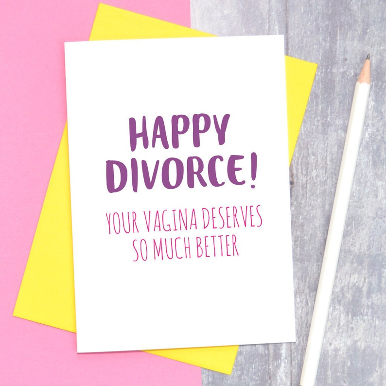 Happy Divorce card funny divorce card break up card adult image 0
