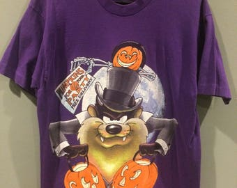 1994 halloween Taz shirt. Double sided awesomeness!