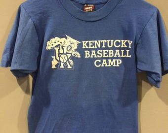 Vintage Kentucky baseball camp shirt